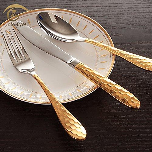Posate in acciaio inossidabile di alta qualità corsa all'aperto o per uso domestico ChopsticksSpoon forcella Sacco Box set stoviglie non deve mai la lucidatura per la facile manutenzione