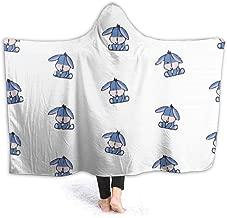 JIEKEME Hooded Blanket Winnie Friend Eeyore Throw Wearable Cuddle Hooded Robe Blanket