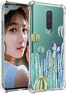 Compatible with OnePlus 8 Case - Flower Pattern, Cute Girly Floral, Soft Anti Scratch & Collision TPU Cover-1