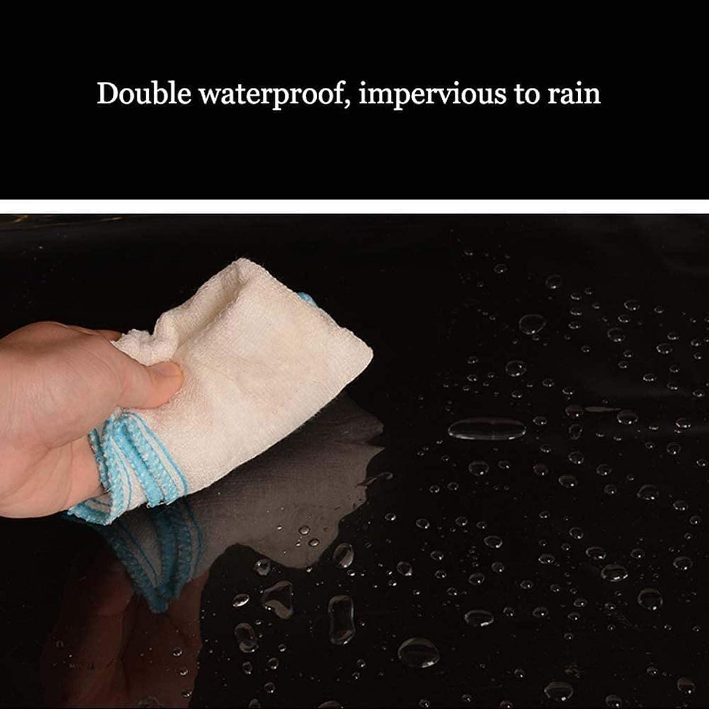 GFSD Transparenter Regensicherer Au/ßenvorhang PVC-Plane Wasserdichtes Tuch Verdicken Weicher Kunststoff-Regenvorhang for Au/ßenbereich Color : Clear, Size : 0.5x1.5m Innenhof Terrasse Balkon