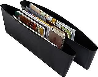 Generic Catch Caddy Car Seat Catcher Magic Box Car Organizer (Set Of 2) Side Gap Pocket For Wallet, Phones Maps Cash & Glasses-Spacious Best Car Storage,Black
