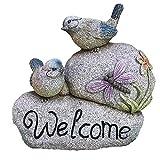 LIUCHUNYANSH Gartenskulptur Bird Willkommen Skulptur, Idyllische Outdoor Courtyard Villa Landschaft Simulation Stein Vogel Willkommen Gartendekoration