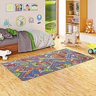 Snapstyle Alfombra Infantil Carretera de Big City 3D - Gris - 17 tamaños