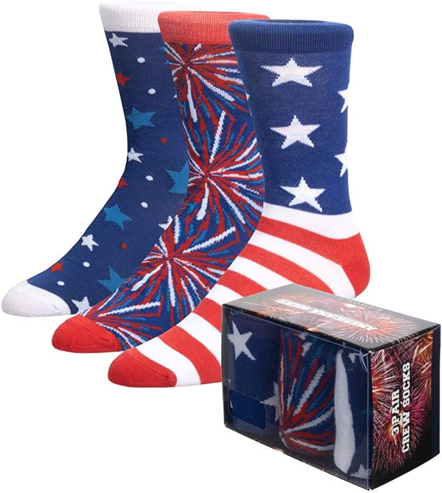 Americana Crew Socks (3-Pack Box Set)