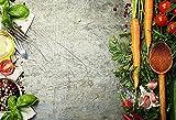 Fondo de fotografía de mármol Comida Pared de Cemento Oscuro Verduras Frutas Cocina Estudio fotográfico fotografía Accesorios de Fondo A15 10x10ft / 3x3m