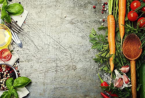 Fondo de fotografía de mármol Comida Pared de Cemento Oscuro Verduras Frutas Cocina Estudio fotográfico fotografía Accesorios de Fondo A15 9x6ft / 2,7x1,8 m