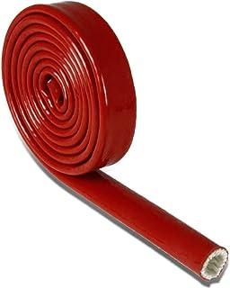 Fire tressé Sleeve Fire protection en fibre de verre en différentes tailles et longueurs - 22.0mm 15mtrs