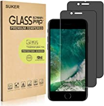[2-Pack] SUKER for Apple iPhone 8 Plus/iPhone 7 Plus (Privacy) Anti-Spy Tempered Glass Screen Protector, Anti-Scratch, Anti-Fingerprint, Bubble Free, Case Friendly