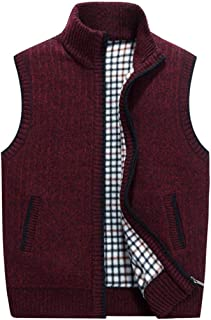 SANFASHION Gilet for Mens Jacket Vest Knit Cardigan Body Warmer Lightweight Sleeveless Soft Casual Autumn Winter Multi Poc...