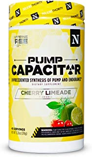 Pump Capacitor- Stimulant Free Pre Workout: Unprecedented Synthesis of Pump and Endurance (Cherry Limeade)