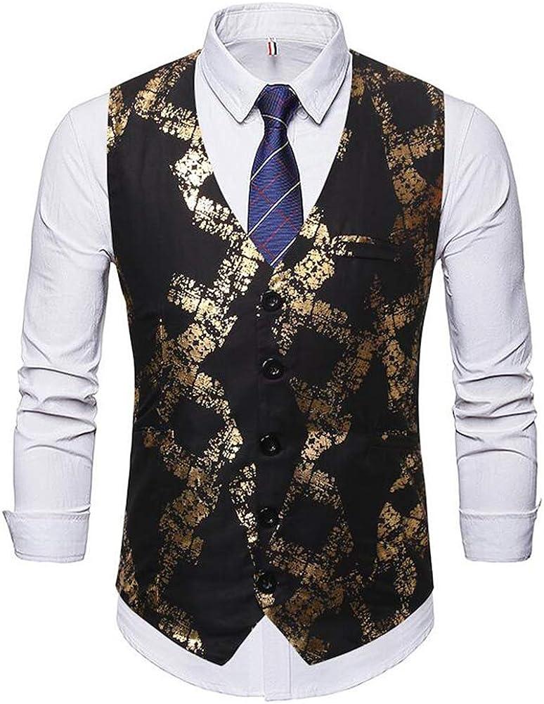 Men's Slim fit Jacquard Vest Wedding Tuxedo Suit Waistcoat Vests