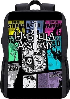 The Umbrella Academy GTA Mochila Daypack Librero Portátil Bolsa escolar con puerto de carga USB