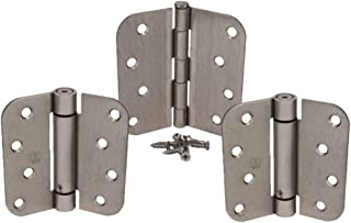 Satin Nickel 4 X 4 with 5/8 Radius Spring Door Hinge Kit