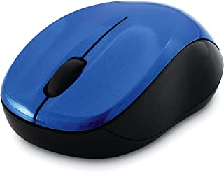 Verbatim Wireless Silent Mouse 2.4GHz with Nano Receiver - Ergonomic, Blue LED, Noiseless and Silent Click for Mac and Windows - Blue