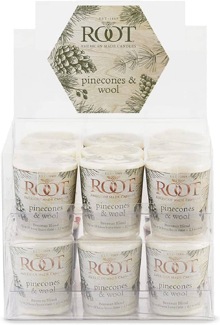 Root Candles Free shipping 20-Hour Courier shipping free shipping Scented Beeswax 1 EA Votive Blend