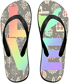 AA+ME I Love Chickens Comfortable Men Women Summer Beach Sandals Shower Flip-Flops Slippers