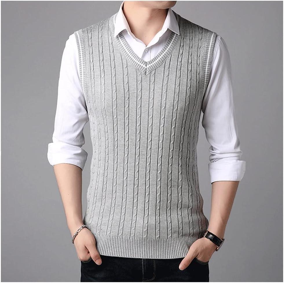 HLMSKD Sleeveless Sweater Tank Tops Autumn Knitted Ju Spring shop Inexpensive Men