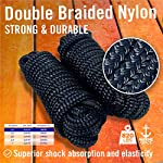 """Dock Lines Boat Ropes for Docking 3/8"""" Line Braided Mooring Marine Rope 15FT"""