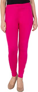 American-Elm Women's Magenta Ankle Length embroided Legging