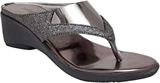 Butterflies Steps Latest Collection, Comfortable Wedges Sandalfor Women's & Girl's (Grey) (GHS-0021GY)