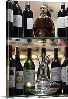 GREATBIGCANVAS Gallery-Wrapped Canvas France, Aquitaine Region, St-Emilion, Wine Town, Detail of Wine Merchant Shop by Walter Bibikow 40