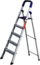 PARASNATH Aluminium Blue Heavy Folding Ladder 5 Step 5.2 Ft