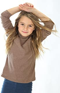 high5 Little Girls Solid Color Turtleneck 100% Cotton (2-5 Years) Multiple Colors