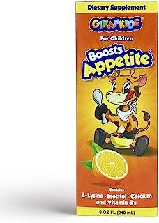 GirafKids Appetite Vitamins for Kids – 8Fl Oz Appetite Boost Syrup – L-Lysine, Inositol, Calcium and Vitamins – Orange Fla...