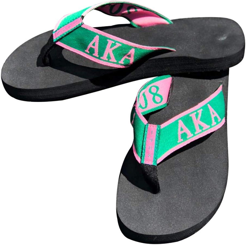 Buffalo Dallas Alpha Kappa Alpha Flip Flops Green