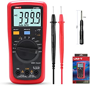 NKTECH TL-1 Screwdriver UNI-T UT136B Auto Range Digital Multimeter Voltage Current Capacitance Frequency Resistance Tester Meter Kit Probes Two-component