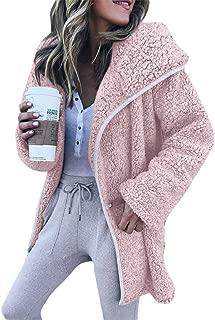 Casual Fleece Coat, Winter Warm Hoodie Zipper Long Sleeve Sweater Cotton Pocket Outwear Plus Size