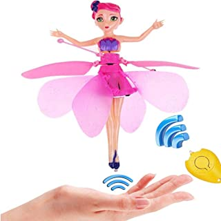 Anda Flying Fairy Doll Girl 6 Years Old, Infrared Sensor Control Remote Control Helicopter Child Toy Teen Toy Ballet Girl ...
