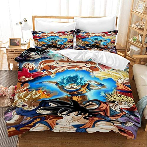 Anime Bedding Sets 3D Print Big Collection 3pcs Duvet Cover Set Soft,Dragon Ball Full