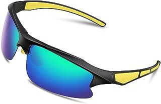 Sports Sunglasses for Women Men Polarized Sunglasses Unbreakable Tr90 Frame Golf Glasses for Cycling Running Fishing Outdoor Baseball WL-823