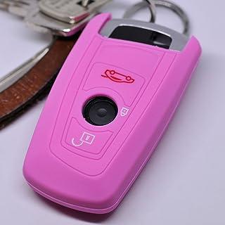 Soft Case Schutz Hülle Auto Schlüssel für BMW F20 F13 F30 F31 F32 F33 F22 1er 2er 3er 4er F10 F25 F07 F11 Smartkey/Farbe: Rosa