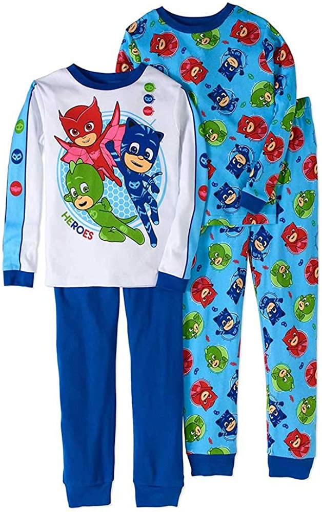 PJ Masks Boy 4 PC Long Sleeve Tight Set Popular Indianapolis Mall overseas Pajama Fit Cotton 6 Size