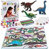 Kit de Loisir Creatif Enfant Dinosaure Figurine Peindre Jouet Dinosaure Figurine avec Tapis Jouets Créatifs Anniversaire Noël Cadeau pour Enfant Garcon Fille 4 5 6 7 8 9 Ans