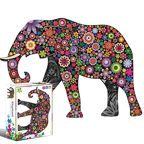 Puzzle 500 Piezas Niños,Rompecabezas de Animales,Puzzle Adultos 500 Piezas,Puzzle Adultos,Puzzle 500 Piezas Animales,Rompecabezas 500 Piezas,Puzzles para Adultos Educa (Elefante)