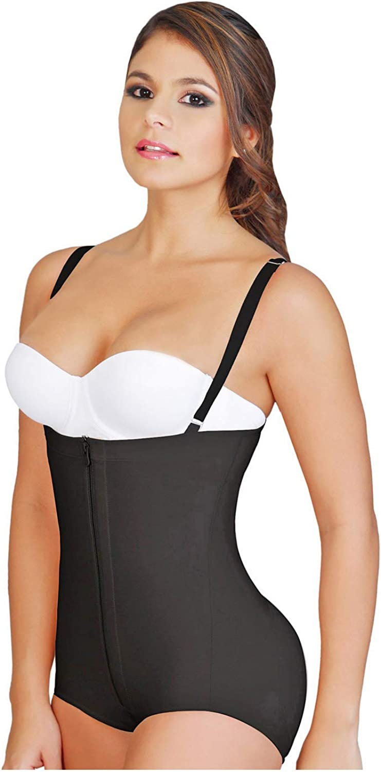 Fajas Colombianas Salome 0414 Women's Body Shaper Levanta Cola y Strapless