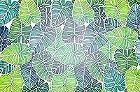 新鮮な植物手描きの葉緑の壁紙壁の壁紙の装飾3D壁紙ペーストリビングルーム寝室の壁画の壁--250cmx175cm