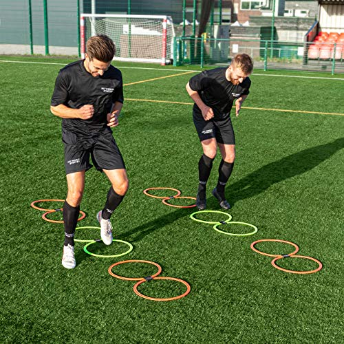 FORZA Agility Rings [Pack of 12] | Soccer Training Equipment | Multi-Sport Agility Ring Set | Speed Ladder Agility Hurdles | Football Training Equipment