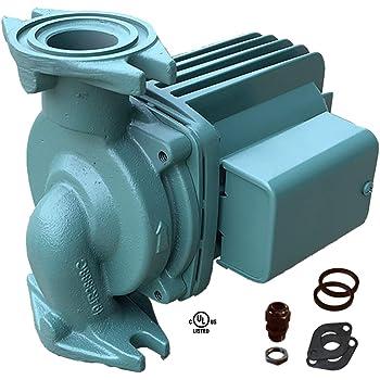 Taco 0011-F4, Circulator Pump, Cast Iron, 1/8 HP Pump with Universal Pump  Gaskets and Wire Gland - - Amazon.comAmazon.com
