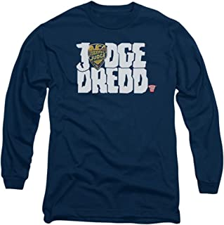 Juez Dredd–para hombre Logo camiseta de manga larga