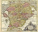 Karte des Schlaraffenlandes (Schlarraffenland) 1694: Neu-entdeckte Schalk-Welt