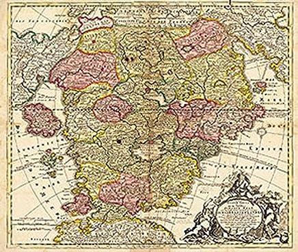 Karte des Schlaraffenlandes (Schlarraffenland) 1694: Neu-entdeckte Schalk-Welt : B�cher