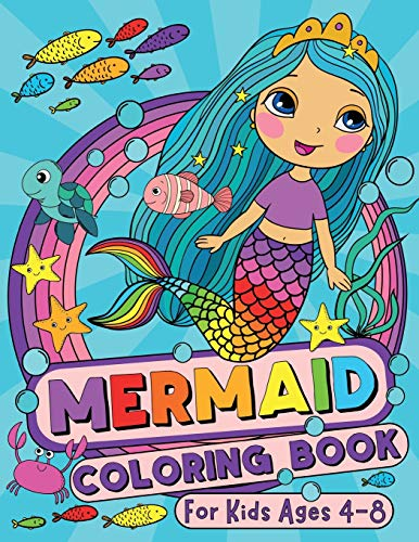 Mermaid Coloring Book: For Kids Ages 4-8 (US Edition) (Silly Bear Coloring Books)