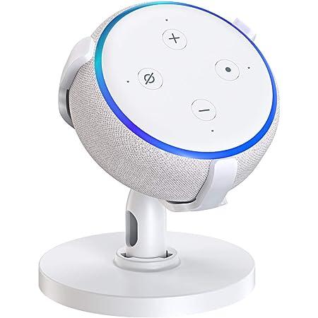 HLOMOM Dot 第3世代 スマートスピーカー ホルダー 保護スタンド 卓上用マウント Speaker ブラケット 360度調節可能 安定性が高い
