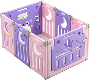 Hfyg Playpens Baby Playpen with Activity Panels  Children s Play Fence Baby Indoor Protective Fence Infant Crawling Toddler Guardrail pens