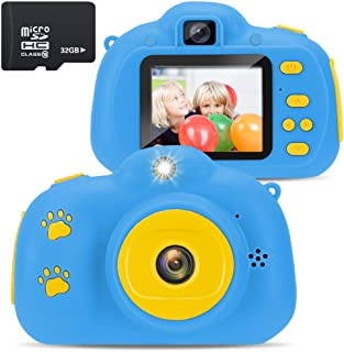 Zebu Sing Kids Camera for 3-8 Year Old Girls Boys Best Birthday Gift Christmas Gift Party Outdoor Toys Kids Digital Video Camera Preschool Learning Electronic Toys(32GB SD Card Included)