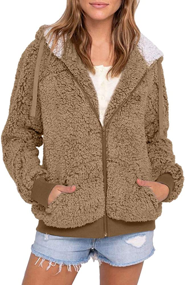 Dreamyam Outlet SALE Women Full Zip Hoodie Fleece Long Hood High quality with Jacket Slee